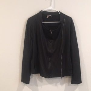 Miilla moto jacket with zipper front/zipper detail